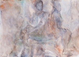 All Things Considered / Mixed media on paper / 22 in. x 30 in. (SOLD)