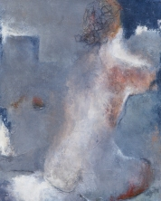 Woman Sitting 2 / Mixed media on canvas / 16 in. x 20 in. (SOLD)
