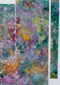Garden #2 / Acrylic on mylar and paper / 15 in. x 22 in.