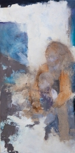 Holding Her Close / Mixed media on canvas / 15 in. x 30 in. (NFS)