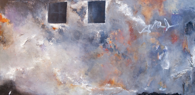 Bearing Witness / Mixed media on canvas / 30 in. x 60 in. (SOLD)