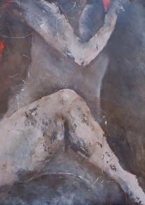 Gathering In (Asana) / Acrylic on paper / 22 in. x 30 in.