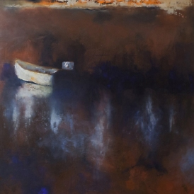 Louise's Boat / Oil on wood / 24 in. x 24 in. (SOLD)
