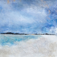 Matemwe Beach 2 / Mixed media on canvas / 12 in. x 12 in. (SOLD)