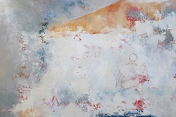 Puerto (on coming home) #3 / Mixed media on canvas / 24 in. x 36 in. (SOLD)