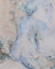 Woman Sitting 3 / Mixed media on canvas / 16 in. x 20 in. (SOLD)