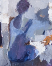 Woman Sitting 1 / Mixed media on canvas / 16 in. x 20 in. (NFS)