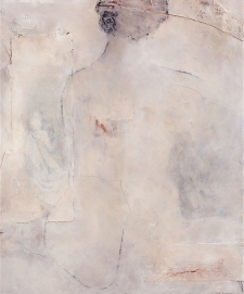 Women sitting (the beginning) / Mixed media on canvas / 20 in. x 24 in. (SOLD)