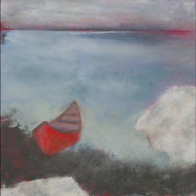 Laundry Rock / Oil on wood / 24 in. x 24 in. (SOLD)