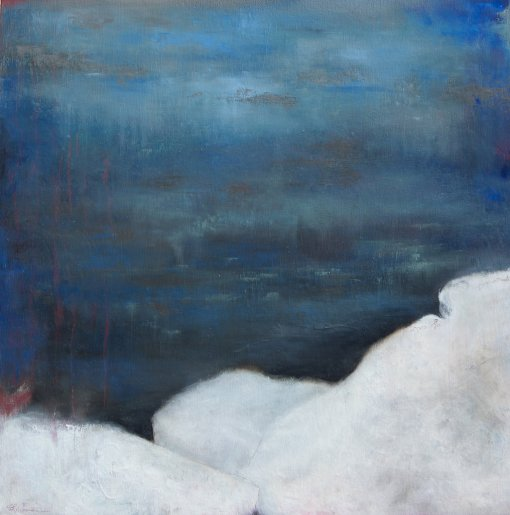A Moment of Calm / Oil on wood / 24 in. x 24 in. (SOLD)