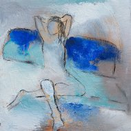 Dimitra / Acrylic & Oil on wood / 6 in. x 6 in. (SOLD)