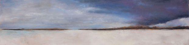Matemwe Beach (4) / Oil on wood / 6 in. x 24 in. (SOLD)