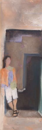 Tending the Moment / Oil on canvas / 8 in. x 24 in./ NFS