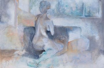 Patience / Mixed media on canvas / 24 in. x 36 in. (SOLD)