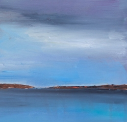 Six x Six : Landscape 3 / Oil on wood / 6 in. x 6 in. (SOLD)
