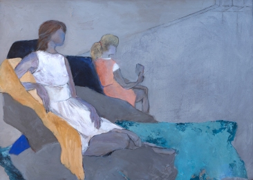 The Shape of Us / Mixed media on canvas / 21 in. x 29 in. / $675 (FRAMED)