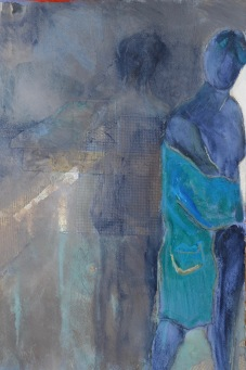 From Where I Stand / Mixed media on wood / 15 in. x 22 in. / $475