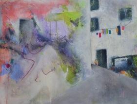 Porto Rua / Mixed media on canvas / 30 in. x 40 in. (NFS)