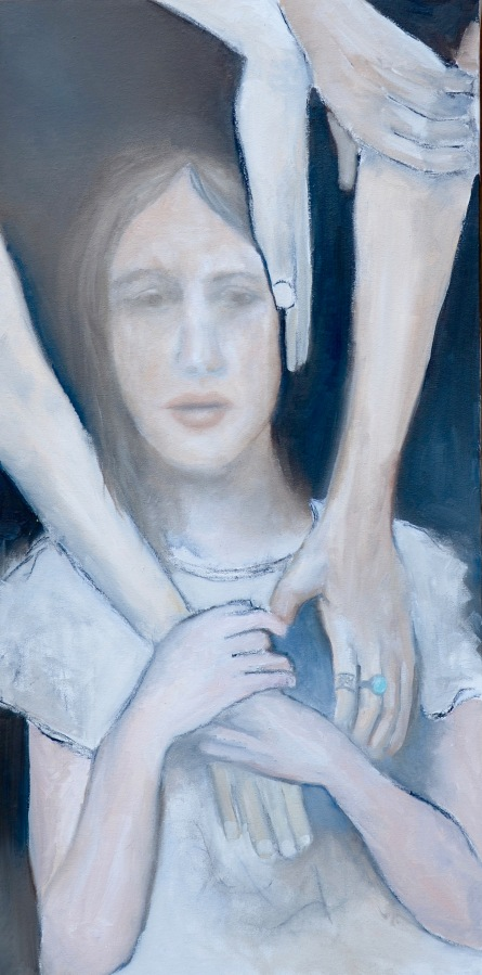 Healing Hands (after Gil Cohen Magen) / Oil on canvas / 15 in. x 30 in./ $625