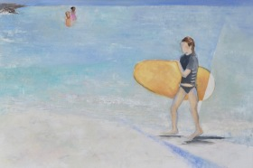 Surfer Girl / Oil on canvas / 24 in. x 36 in./ $775