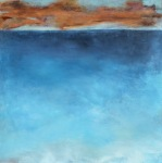 Blues of the Bay 3 / Oil on wood / 24 in. x 24 in. (SOLD)