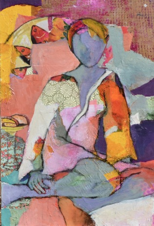 Belonging / Mixed media on wood / 23 in. x 16 in. (SOLD)
