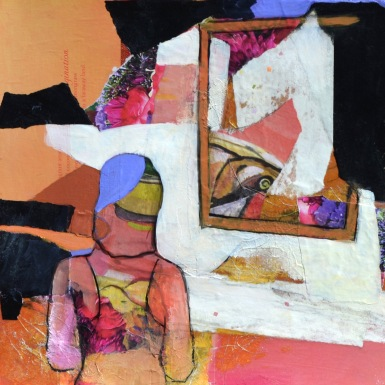 The Gallery: Art Appreciation / Mixed media on wood / 12 in. x 12 in./ $225