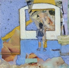 The Gallery: In Awe of Art / Mixed media on wood / 12 in. x 12 in./ $225