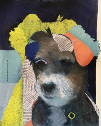 Frankie / Mixed media on wood / 9 in. x 12 in. / $125