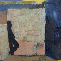 The Gallery: Time to Ponder / Mixed media on wood / 12 in. x 12 in. / $225