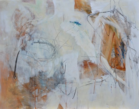 Solace / Mixed media (acrylic, graphite & oil sticks) on wood / 22 in x 30 in / $675