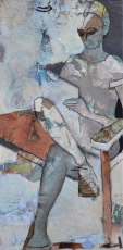 Life Drawing 2 / Mixed media on canvas / 18 in x 36 in x (3 in deep) / $725