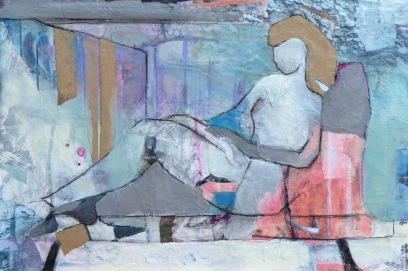 Immersed / Mixed media on wood / 15 in x 22 in / $525 (FRAMED)