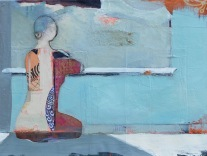 Woman Sitting #10 / Mixed media on wood / 12 in. x 16 in. / $325 (FRAMED)