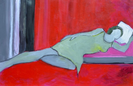 In Red / Acrylic on wood / 15 in. x 22 in. / $475