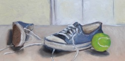 Blue Converse / Oil on wood / 6 in. x 12 in. / NFS