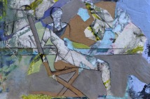 The View From Here / Mixed media on wood / 15 in. x 22 in. (SOLD)