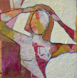 Another Day / Mixed media on wood / 12 in. x 12 in. / $225