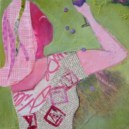 Cheers / Mixed media on wood / 10 in. x 10 in. / $150